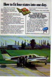 Beechcraft Baron 58P Aircraft Ad 1980s (Image1)