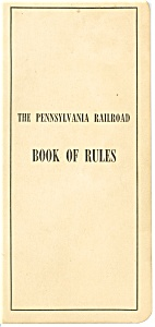 Pennsylvania Railroad Book of Rules rr0002 (Image1)