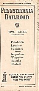 Pennsylvania Railroad Time Tables 1945 rr0016 (Image1)