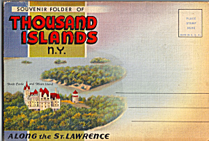 Thousand Islands New York Souvenir Folder Sc0442