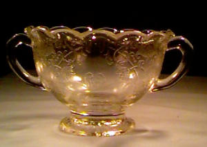 Depression Glass Florentine#1 Sugar Crystal (Image1)