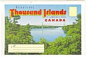 Thousand Islands Canada Souvenir Folder Sf0037