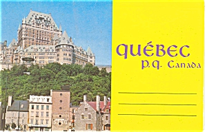 Province Of Quebec Canada Souvenir Folder Sf0038