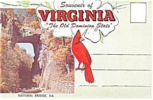 Souvenir Folder Of Virginia The Old Dominion State Sf0042