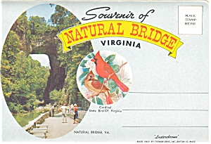 Natural Bridge Of Virginia Souvenir Folder Sf0045