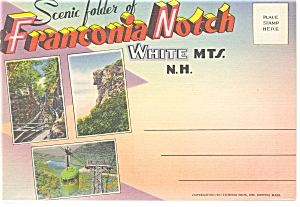 Franconia Notch, Nh Linen Souvenir Folder Sf0049