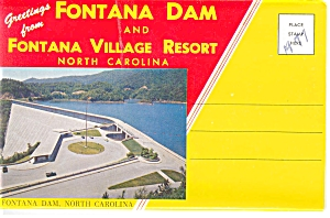 Fontana Dam North Carolina Souvenir Folder Sf0065