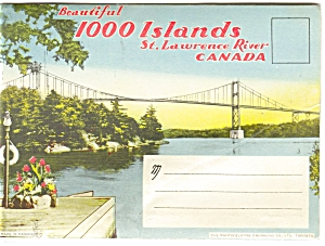 Thousand Islands St Lawrence Souvenir Folder Sf0066