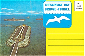 Chesapeake Bay Bridge Tunnel Souvenir Folder Sf0067