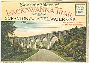 Lackawana Trail Vintage Souvenir Folder Sf0076