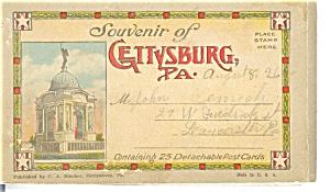 Gettysburg PA Souvenir Folder Postcards (Image1)