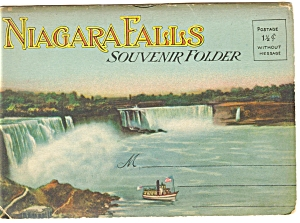 Vintage Souvenir Folder Of Niagara Falls 20 Views Sf0102