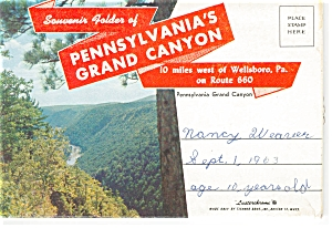 Pennsylvania S Grand Canyon Souvenir Folder Sf0106