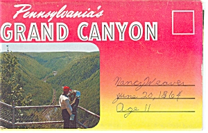 Grand Canyon Of Pennsylvania Souvenir Folder Sf0108