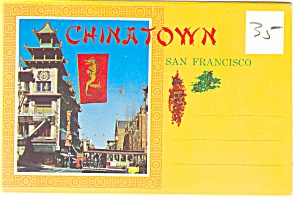Chinatown, San Francisco, CA Souvenir Folder (Image1)