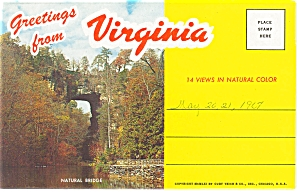 Greetings From Virginia Souvenir Folder Sf0114