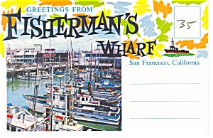 Fisherman's Wharf, San Francisco, CA, Souvenir Folder (Image1)