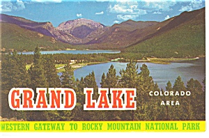 Grand Lake Colorado Souvenir Folder