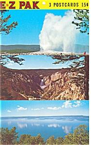 Yellowstone  National Park Grand Canyon Postcards (Image1)