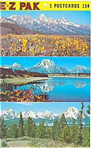 Grand Teton  National Park Wyoming WY Postcards sf0138 (Image1)