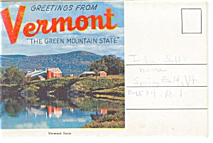 Vermont Green Mountain State Souvenir Folder