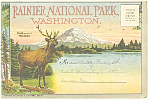 Rainier National Park, WA,Souvenir Folder (Image1)