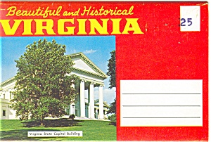 Beautiful and Historical Virginia Souvenir Folder sf0168 (Image1)