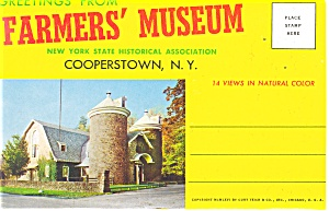 Farmer S Museum, Cooperstown, Ny Souvenir Folder Sf0173