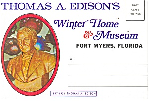 Edison s Winter Home Museum FL Souvenir Folder sf0183 (Image1)