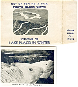 Lake Placid In Winter Souvenir Folder Photo Gloss Views Sf0194