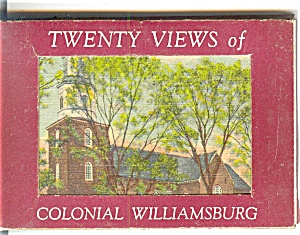 Colonial Williamsburg, Va Souvenir Folder Sf0195
