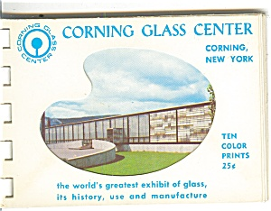 Corning Glass Center, Corning, Ny Souvenir Folder Sf0198
