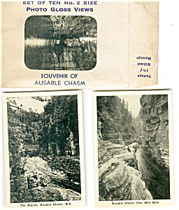 Ausable Chasm,ny Souvenir Folder Photo Gloss Views Sf0199