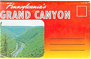 Pennsylvania S Grand Canyon Souvenir Folder Sf0214