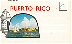 Souvenir Of Puerto Rico Souvenir Folder Old Cars Sf0219