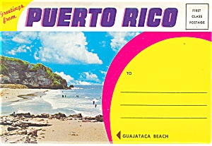 Greetings From Puerto Rico Souvenir Folder