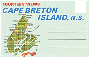 Cape Breton Island, Ns,souvenir Folder Sf0222
