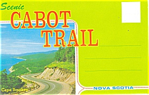 Scenic Cabot Trail Ns Souvenir Folder Sf0223