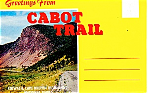 Greetings From Cabot Trail, Ns,souvenir Folder