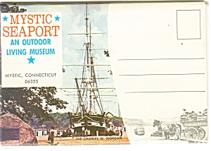 Mystic Seaport Connecticut Souvenir Folder Sf0225