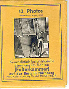 Nurnberg,germany Historical Jail Photos Souvenir Folder