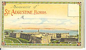 St Augustine Florida Vintage Souvenir Folder sf0250  ca 1930 (Image1)