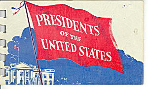 Us Presidents Vintage Souvenir Folder