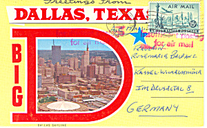 Dallas Texas Souvenir Folder Sf0255 1958