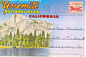 Yosemite National Park CA Souvenir Folder sf0265 1956 (Image1)