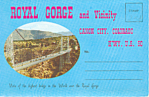 Royal Gorge,canon City, Co Souvenir Folder