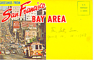 San Francisco Bay Area, CA Souvenir Folder (Image1)