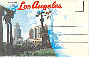 Los Angeles California Souvenir Folder sf0288 (Image1)