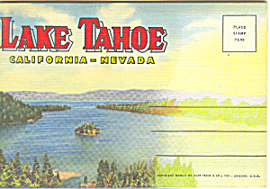 Lake Tahoe California Souvenir Folder
