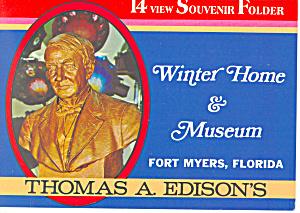 Edison Winter Home and Museum Souvenir Folder sf0324 (Image1)